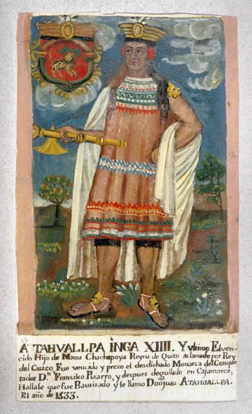 Photograph - Atahualpa (c1500-1533) by Granger