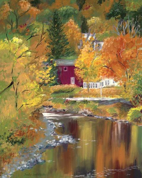 Wall Art - Painting - Autumn In New York by Judy Swerlick