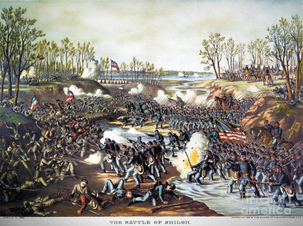 Allison Photograph - Battle Of Shiloh, 1862 by Granger