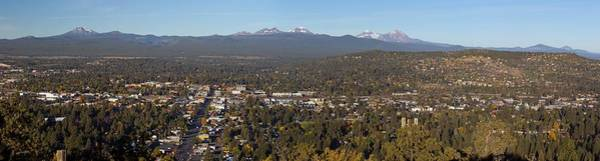 Central Oregon Photograph - Bend Oregon From Pilot Butte by Twenty Two North Photography