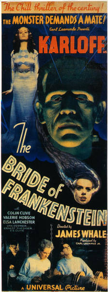 Boris Karloff Photograph - Bride Of Frankenstein 1935 by Granger