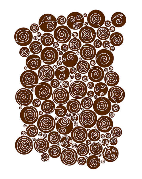 Irregular Painting - Brown Abstract by Frank Tschakert