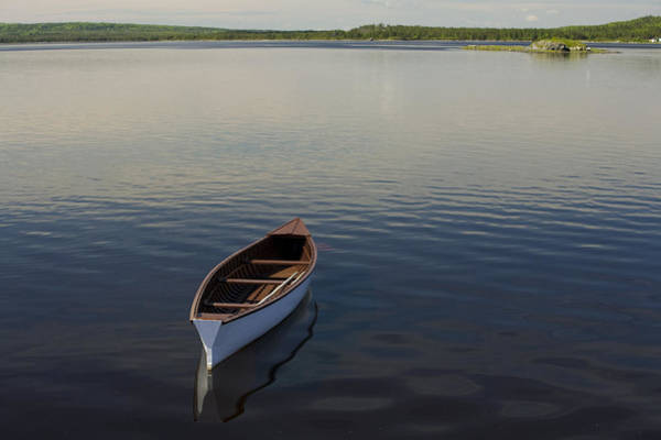 Gander Photograph - Canoe On Gander River, Gander Bay by John Sylvester