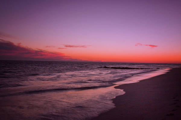 Photograph - Cape May Point Sunset by Tom Singleton
