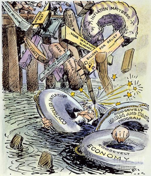 Photograph - Cartoon: New Deal, 1933 by Granger
