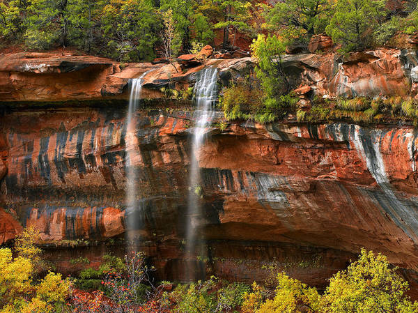 Photograph - Cascades Tumbling 110 Feet At Emerald by Tim Fitzharris