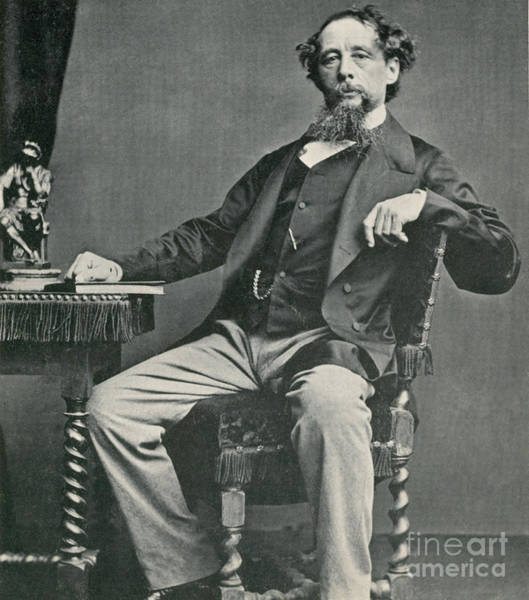 Notable Photograph - Charles Dickens, English Author by Photo Researchers