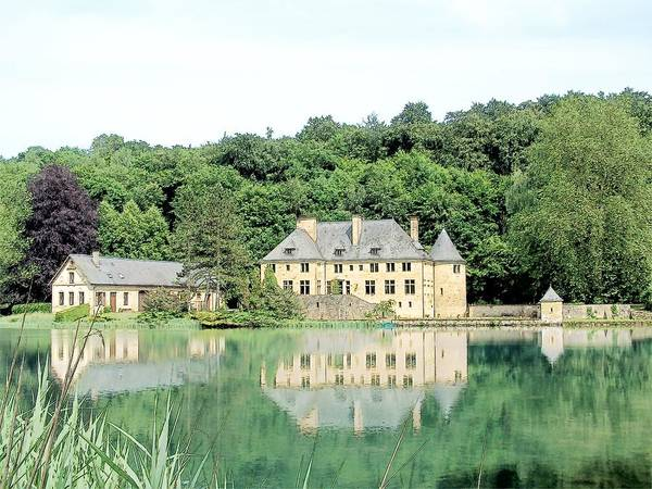 Chateau Du Lac Orval Belgium Art Print