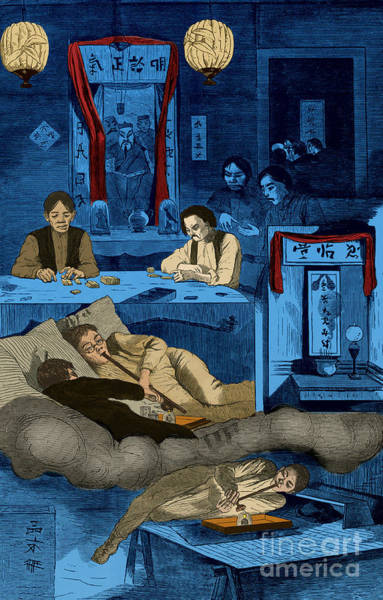 Chinatown Opium Den Art Print