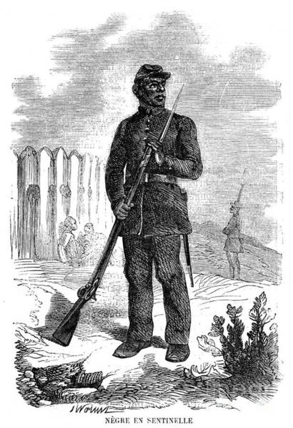 Photograph - Civil War: Black Troops by Granger