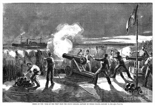 Militiaman Photograph - Civil War: Fort Sumter, 1861 by Granger
