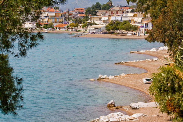 Shirleys Bay Photograph - Coastline Of Greece by Shirley Mitchell