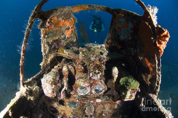 Kimbe Bay Wall Art - Photograph - Cockpit Of A Mitsubishi Zero Fighter by Steve Jones