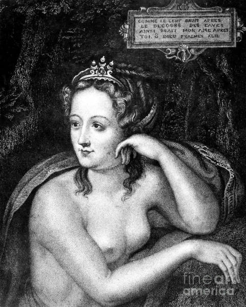 Mistress Photograph - Diane De Poitiers (1499-1566) by Granger