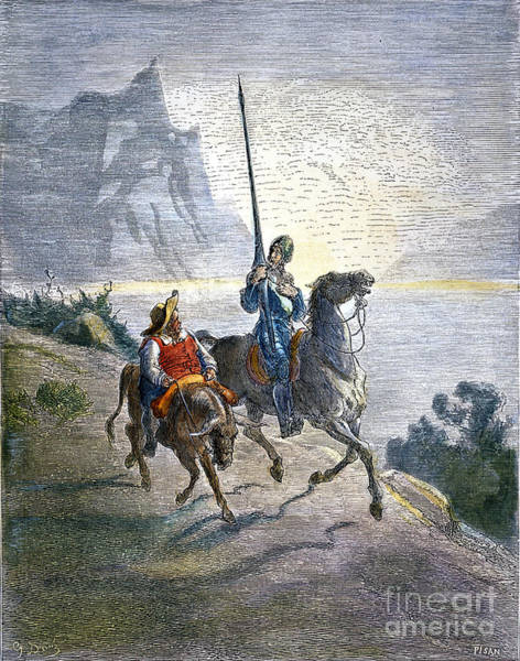 Drawing - Don Quixote by Gustave Dore