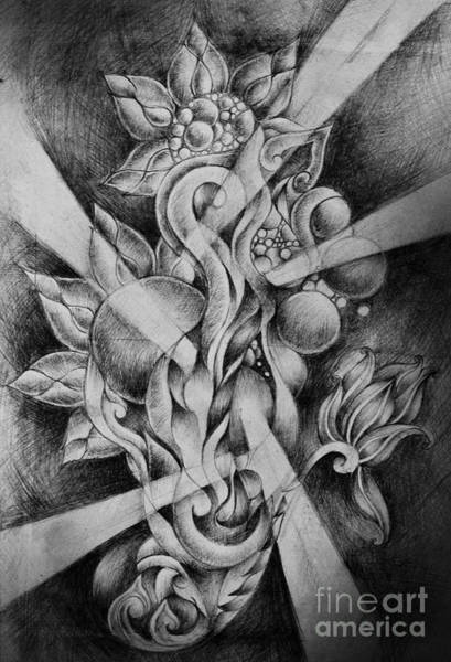 Quaint Drawing - Drawing The Pencil by Rakratchada Torsap