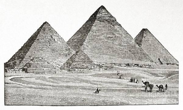 Photograph - Egypt: Pyramids At Giza by Granger