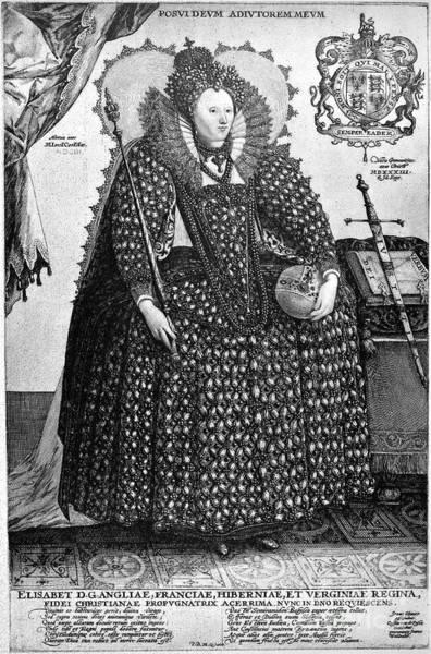 Photograph - Elizabeth I (1533-1603) by Granger