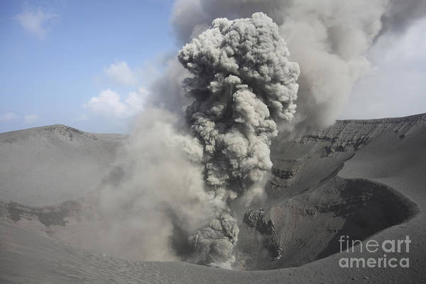 Yasur Photograph - Eruption Of Volcanic Ash, Summit by Richard Roscoe