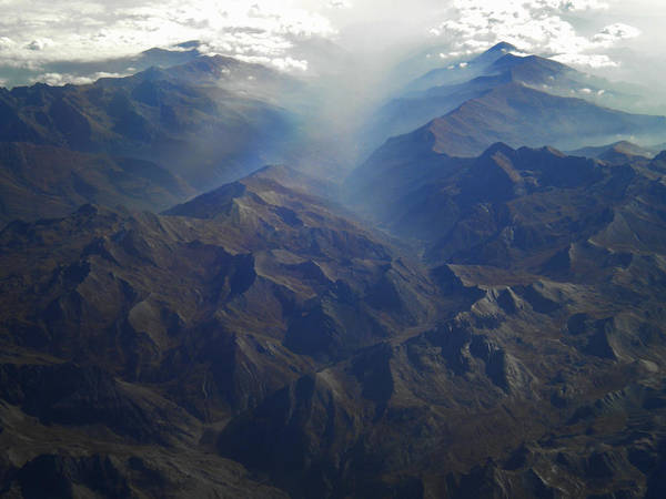 Photograph - Flying Over The Alps In Europe by Colette V Hera  Guggenheim
