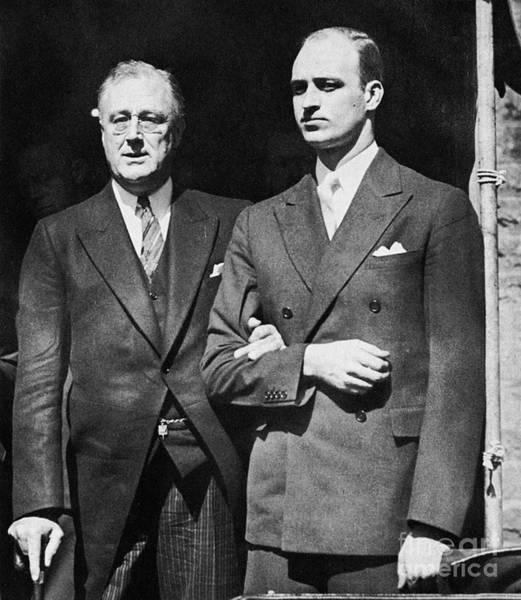 Photograph - Franklin D. Roosevelt by Granger