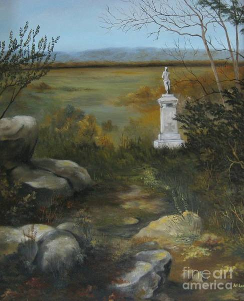 Wall Art - Painting - Gettysburg Monument by Patricia Lang