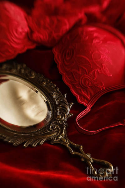 Photograph - Gilded Antique Mirror With Reflection  by Sandra Cunningham