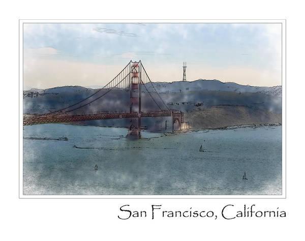 Digital Art - Golden Gate Bridge by Brandon Bourdages