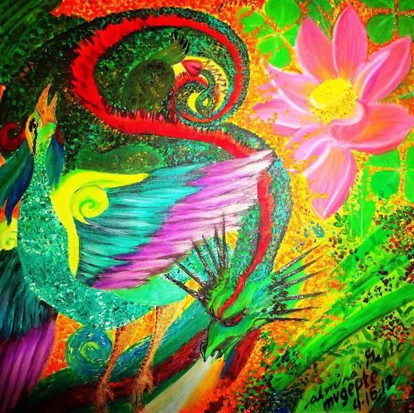 Lucky Clover Painting - Goodluck by Almira Gepte