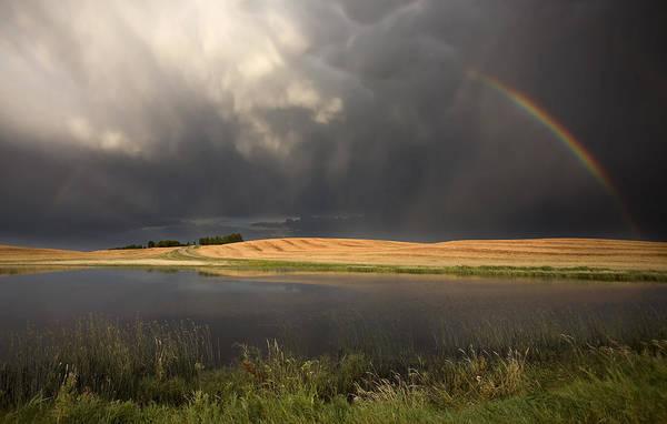 Wall Art - Photograph - Hail Storm And Rainbow by Mark Duffy