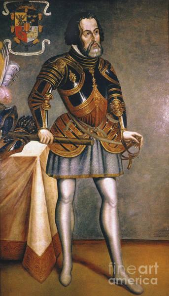 Photograph - Hernando Cortes (1485-1547) by Granger