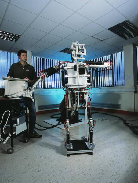 Biomimetics Wall Art - Photograph - Humanoid Robot by Volker Steger