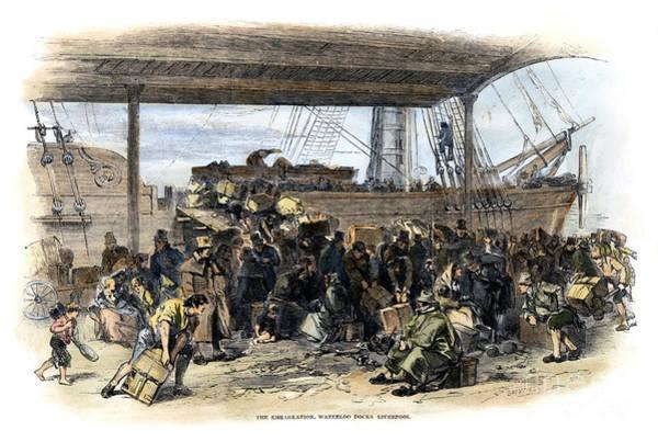 Photograph - Irish Immigrants, 1850 by Granger