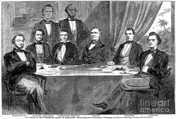 Delegation Photograph - Jefferson Davis (1808-1889) by Granger