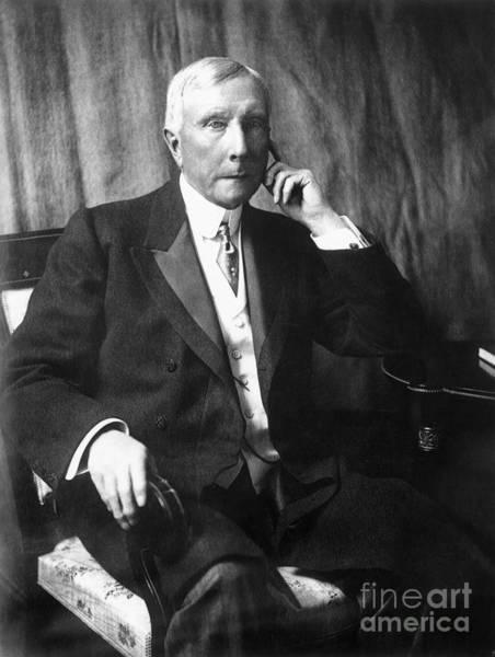 Photograph - John D. Rockefeller by Granger