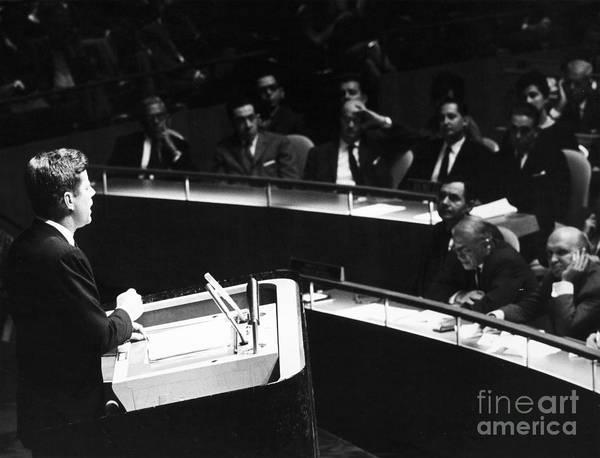 Delegation Photograph - John F. Kennedy, 1961 by Granger