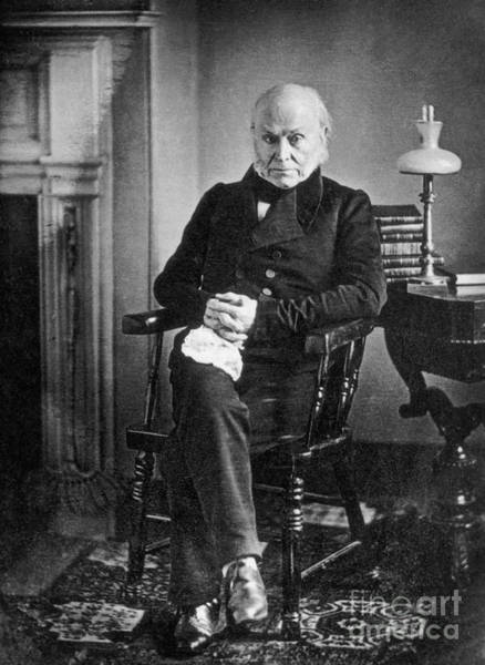 Daguerrotype Photograph - John Quincy Adams, 6th American by Photo Researchers