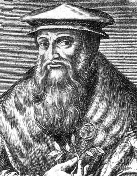 1566 Photograph - Leonhart Fuchs, German Botanist by Science Source