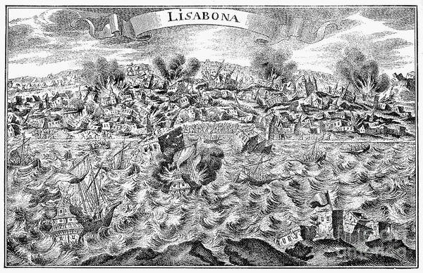 1755 Photograph - Lisbon Earthquake, 1755 by Granger