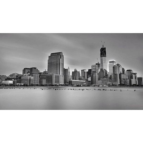 Wall Art - Photograph - Long Exposure Panorama Of The Manhattan by Larry Marshall