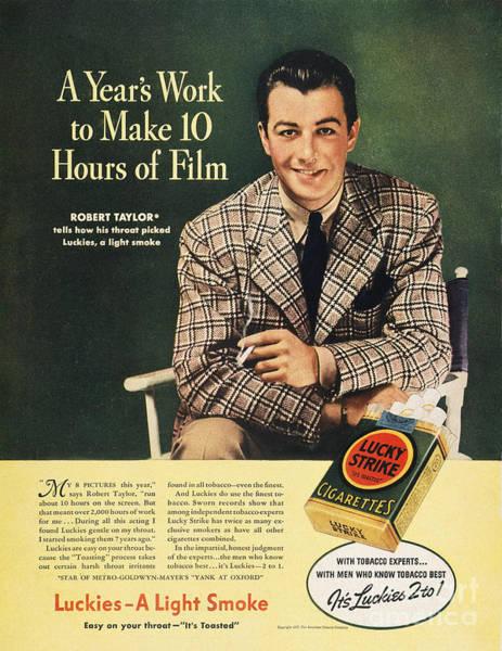 Endorsement Photograph - Lucky Strike Cigarette Ad by Granger