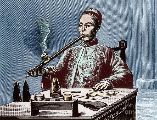Man Smoking Opium Art Print