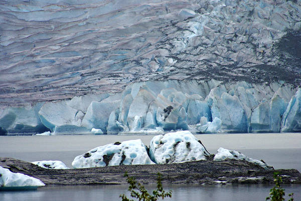 Photograph - Mendenhall Glacier Ice by Marilyn Wilson