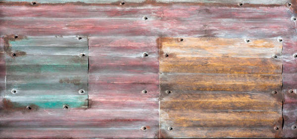 Tin Roof Wall Art - Photograph - Metal Background by Tom Gowanlock