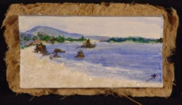 Mixed Media - Miniature. Oregon. Seascape by Antonella Manganelli
