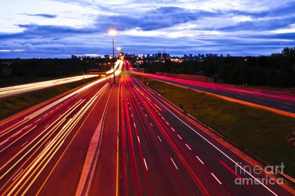 Wall Art - Photograph - Night Traffic by Elena Elisseeva