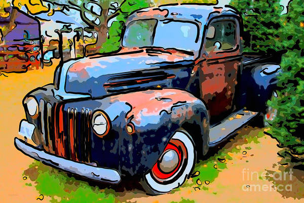 Photograph - Nostalgic Rusty Old Truck . 7d10270 by Wingsdomain Art and Photography