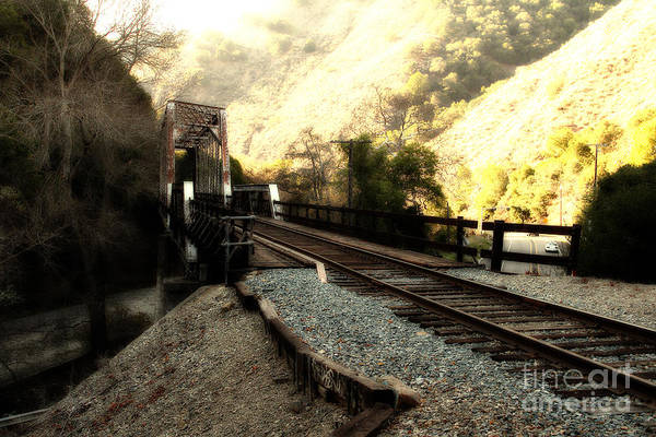 Photograph - Old Railroad Bridge At Near Historic Niles District In California . 7d10756 by Wingsdomain Art and Photography