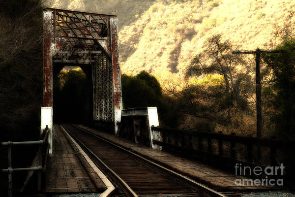 Photograph - Old Railroad Bridge At Near Historic Niles District In California . 7d10757 by Wingsdomain Art and Photography