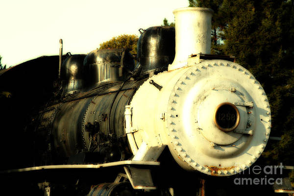 Photograph - Old Steam Locomotive Engine 1258 . 7d10482 by Wingsdomain Art and Photography
